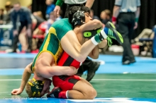 Champ. Round 1 - CJ Pestano (Central (IA)) 18-2 won by decision over Ben Vosters (Wisconsin-Stevens Point) 24-5 (Dec 5-2)