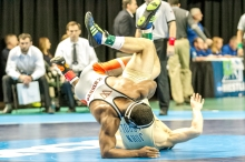 Semifinal - Kenneth Martin (Wartburg) 21-3 won by decision over Dan Mirman (John Carroll) 21-1 (Dec 3-2)