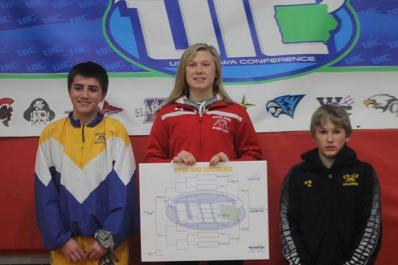 Felicity Taylor of South Winneshiek-2016 Upper Iowa Conference, 106 Pound Champion (Photo Courtesy of Christa Taylor)